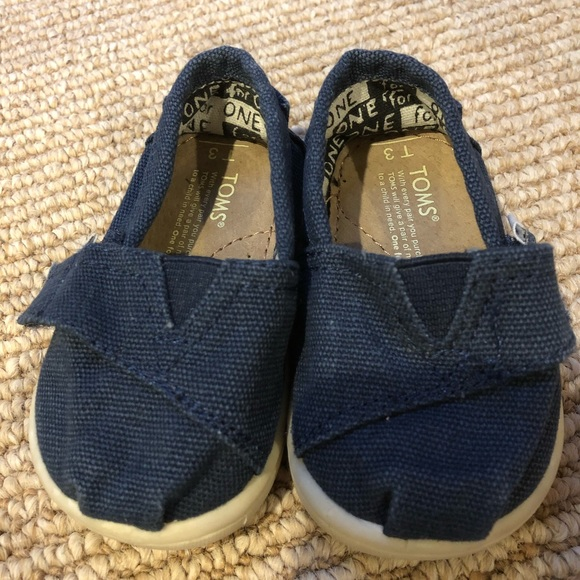 Toms Shoes   Baby Size 3 Navy   Poshmark